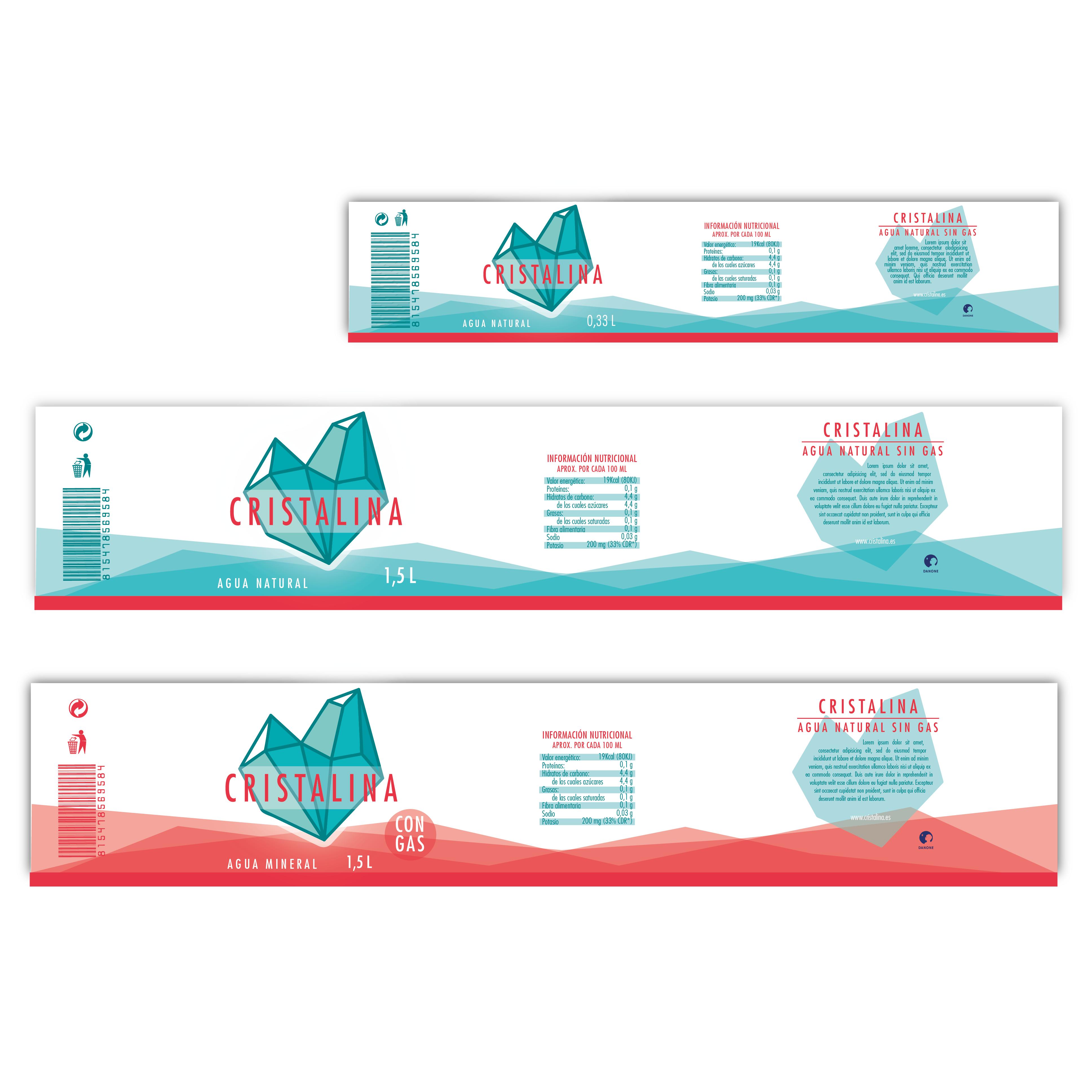 diseño y packaging agua cristalina