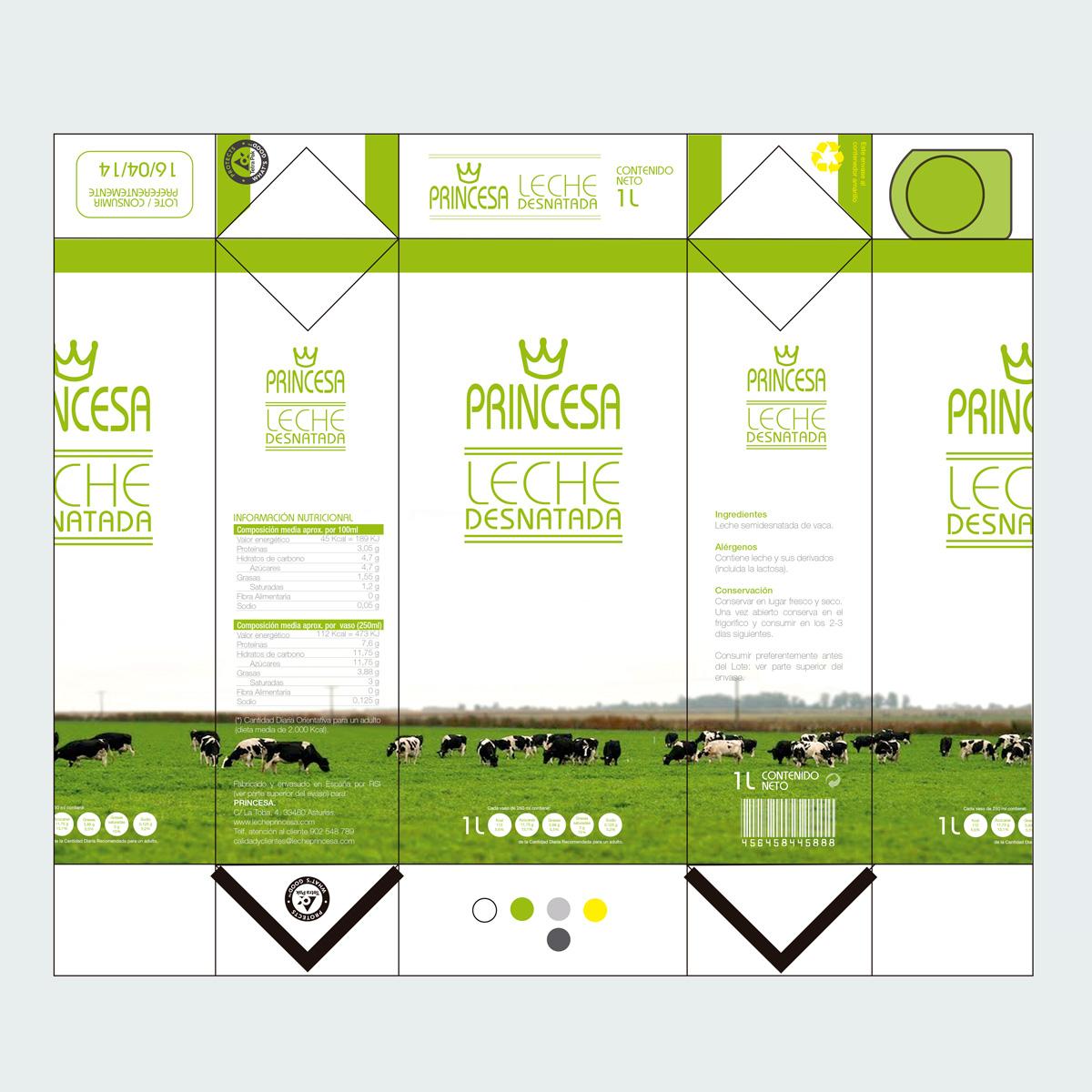 packaging leche princesa