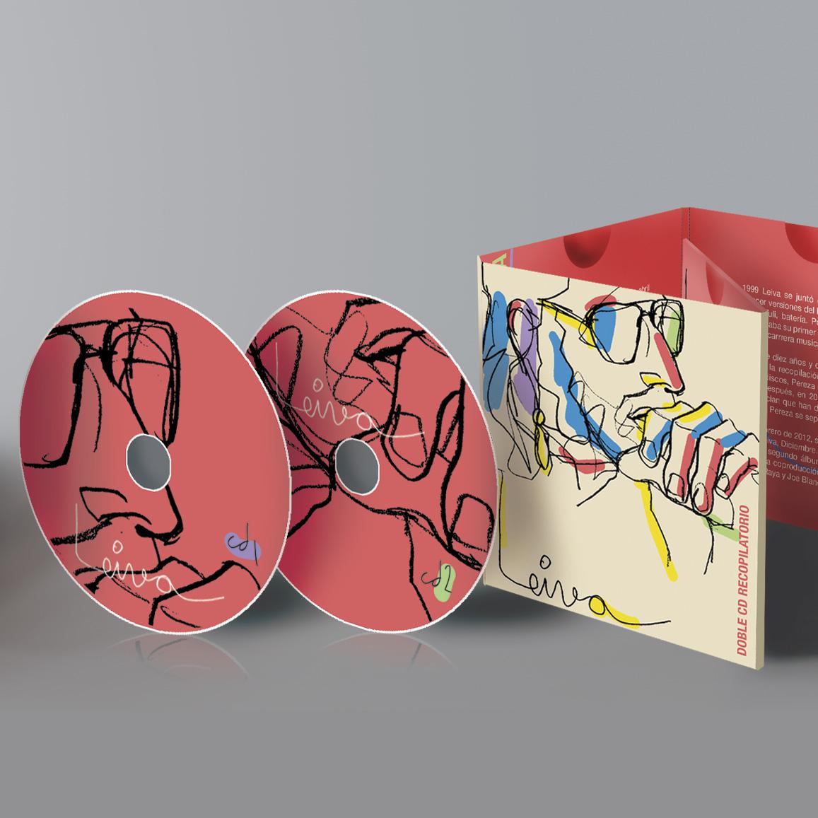Diseño e ilustración CD leiva