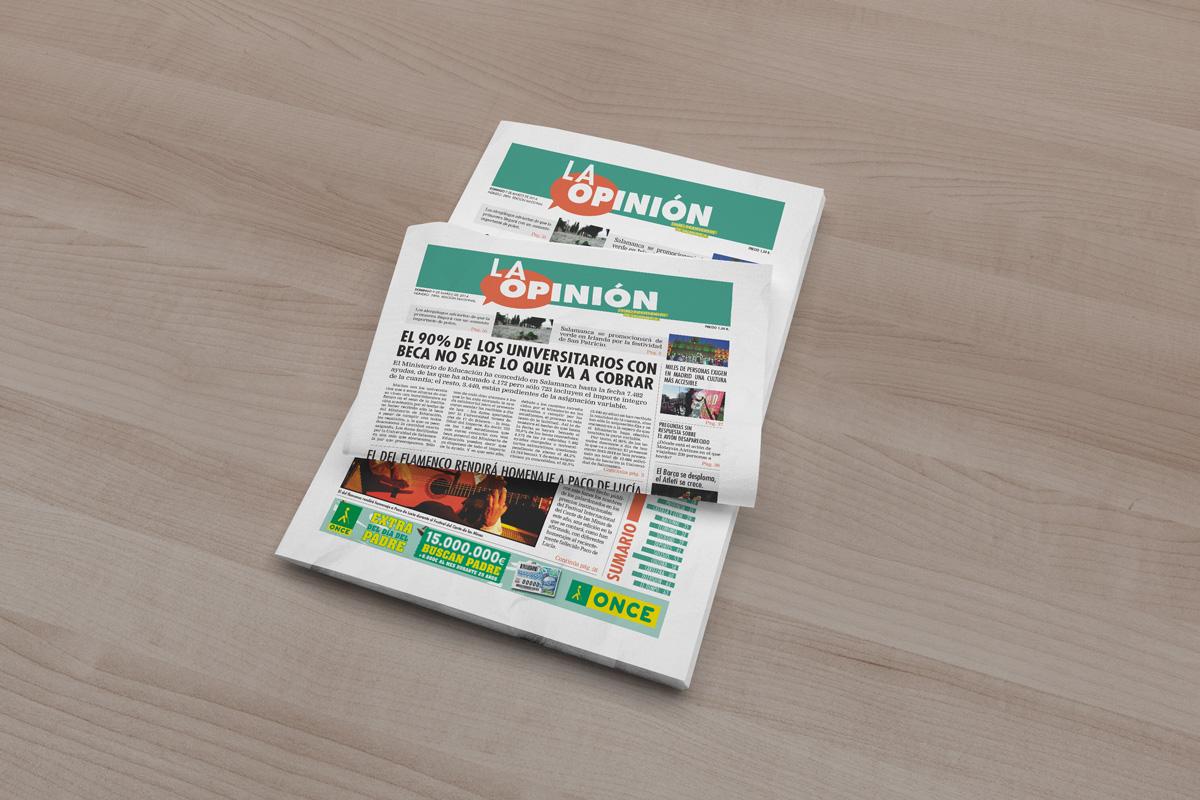 diseño y maquetacion periodico la opinion